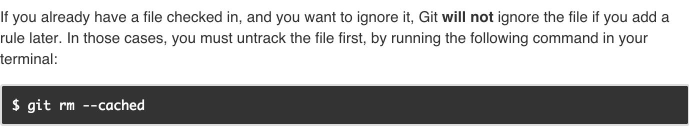 .gitignore文件不起作用