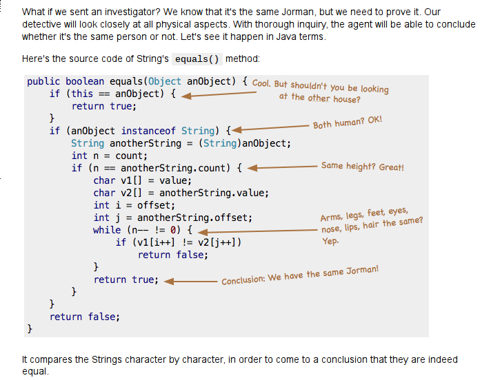 java equals method source code